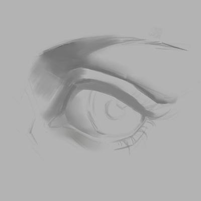 Cómo dibujar ojos anime de mujer, Paso 1