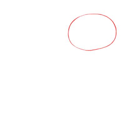 Cómo dibujar un conejo realista paso a paso, Paso 1