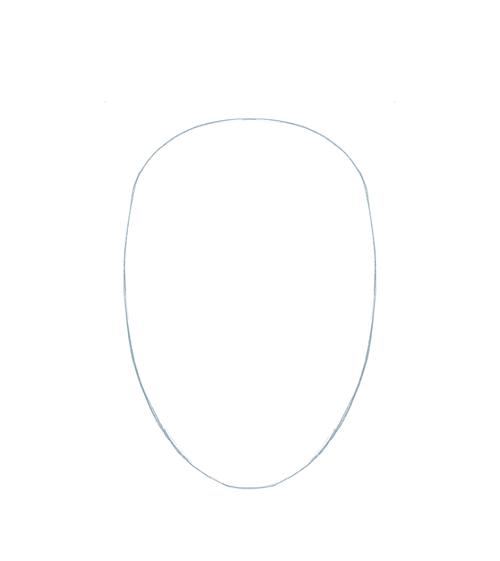 Cómo dibujar y pintar un rostro femenino paso a paso, Paso 1