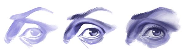 Cómo dibujar un rostro realista, cómo dibujar los ojos del rostro