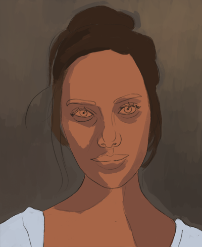 Cómo dibujar y pintar un rostro femenino paso a paso, Paso 13