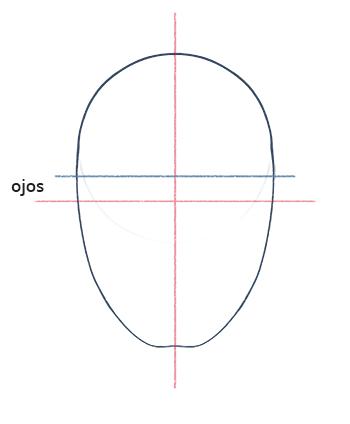 Cómo dibujar un rostro realista de frente fácil paso a paso, Paso 3