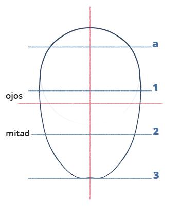 Cómo dibujar un rostro realista de frente fácil paso a paso, Paso 5.1