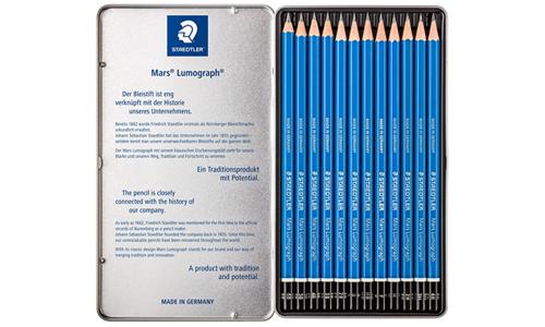 Set Staedtler Mars Lumograph (12), los mejores lápices de dibujo profesional