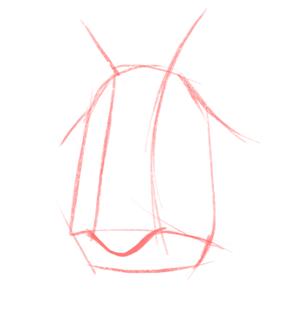 Cómo dibujar una nariz realista paso a paso, Paso 1