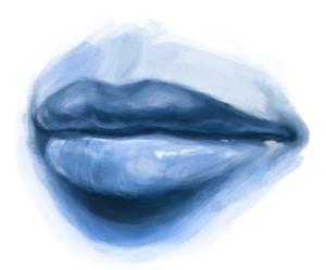 Cómo dibujar una boca realista humana paso a paso, Paso 4