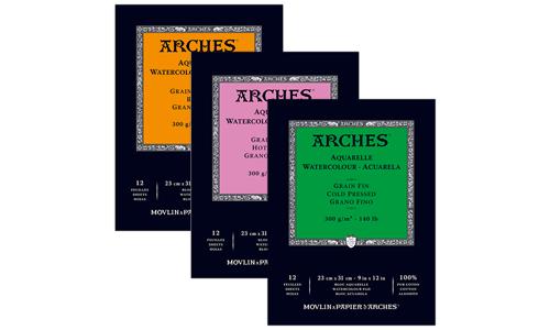 Arches Aquarelle Watercolour Paper, Mejores papeles de Acuarela, Dibucorp