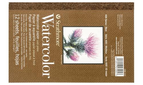Serie Strathmore 400 Watercolor Paper, Mejores papeles de acuarela, Dibucorp