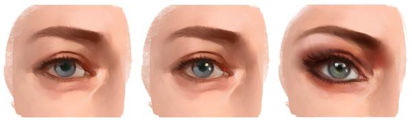 Cómo dibujar y pintar ojos en Photoshop, pasos finales, Dibucorp