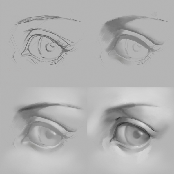 Cómo dibujar y pintar ojos kawaii, primeros pasos, Dibucorp