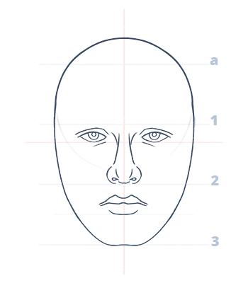 Cómo dibujar un rostro realista de frente fácil paso a paso, Paso 10.1