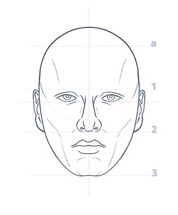 Cómo dibujar un rostro realista de frente fácil paso a paso, Paso 11.1