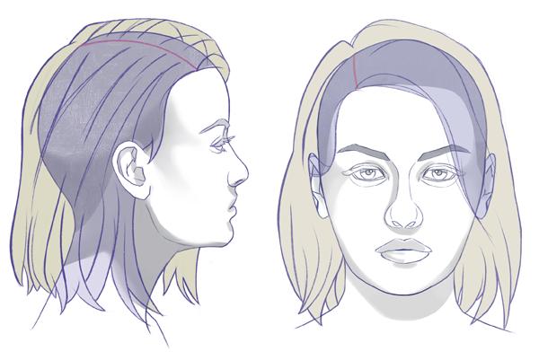 Cómo dibujar un cabello realista, Ejemplo de dibujo, Dibucorp