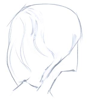 Cómo dibujar un cabello realista paso a paso, Paso 1