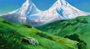 Cómo dibujar un paisaje estilo anime, paso a paso